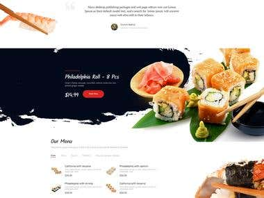 Home Sitio web Restaurante de Sushi demo 4