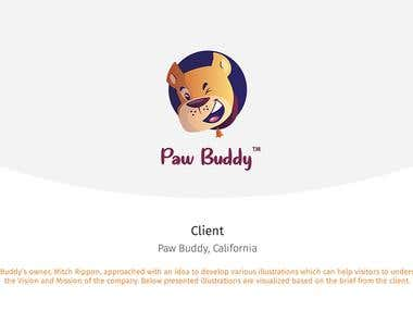 Paw Buddy | Dog Care Illustrations