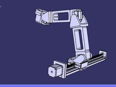 Assembly and Simulation of a Robotic Arm(Reverse Engineered)