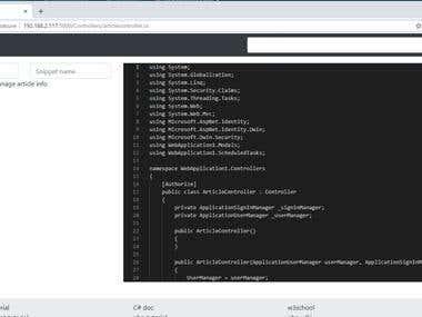 Code Snippet Sharing Platform Using Angular 7, Node, Docker