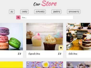 Cake Store theme