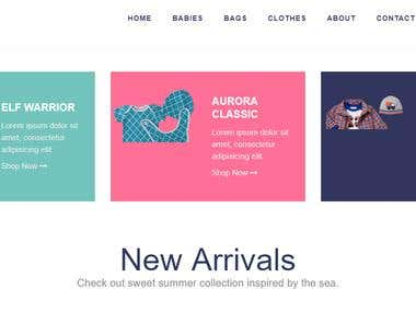 Bootique E commerce Website