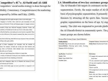 Digital Marketing Audit of Al-Gharafa Sports Club