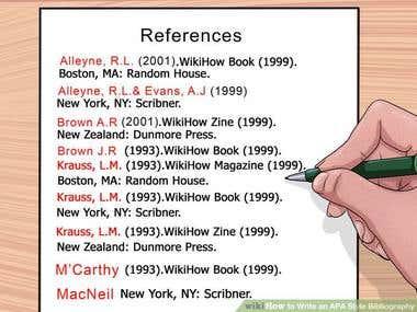 APA, MLA, Havard and Chicago Referencing