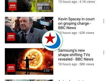 YouTube App - TV News