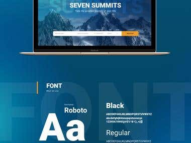 Seven Summits web-design