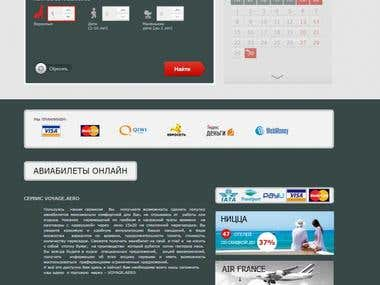 Online System for Booking Air and Railway tickets voyage