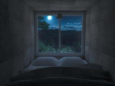 Bedroom design at Mountain