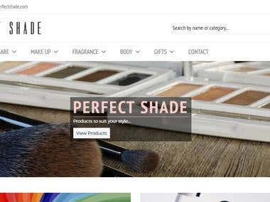 E commerce (https://www.myperfectshade.com/)