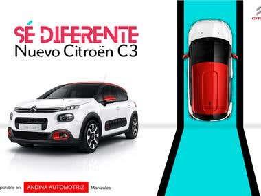 """Diseños y concepto """"Sé diferente"""" (Cliente Citroën)"""