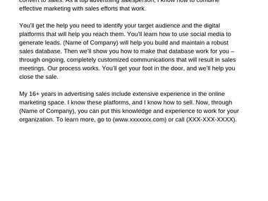 Email for New Marketing Company