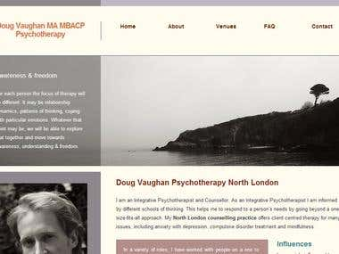 psychotherapist Website - UK based