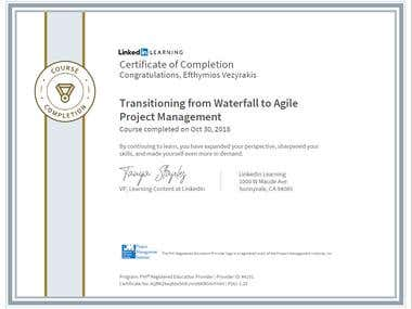 CertificateOfCompletion_Transitioning From Waterfall To Agil