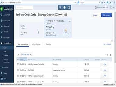 Reconciliation using Quickbooks Online