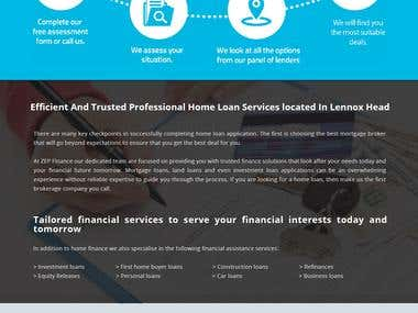 Wordpress ZEP Finance landing page