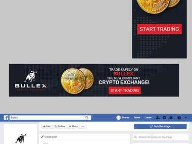 Google Advertisement and Facebook banner