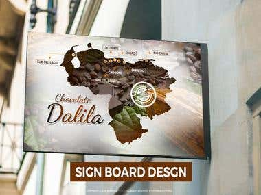 Sign Board Concept design with Venezuela Map