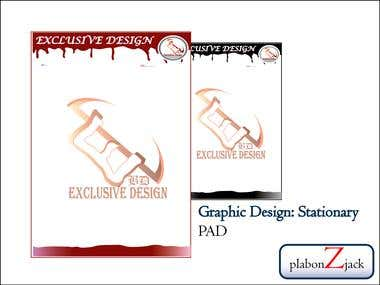 Graphic Design: Stationary- Pad Design