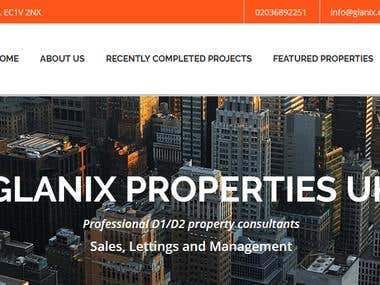 Glanix Responsive website designing