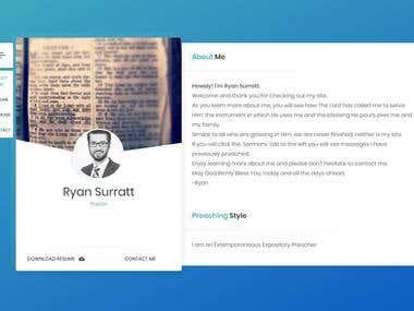 Personal Portfolio Website Development