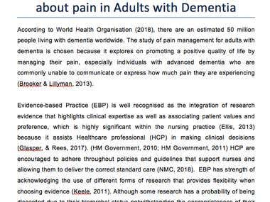 Practitioners knowledge and experience about pain in Adults