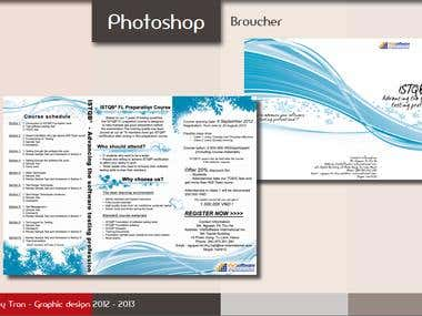 Brochure design by photoshop