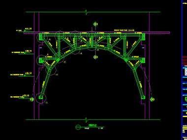 steel truss carry two concrete floors