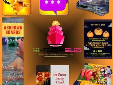 Various graphic design work