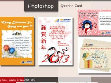 E-card design by photoshop