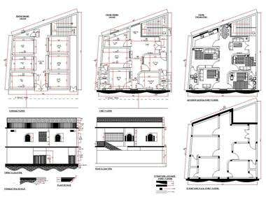Small Market and House Plan