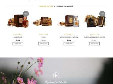 Website Designing for Online Perfume Shop