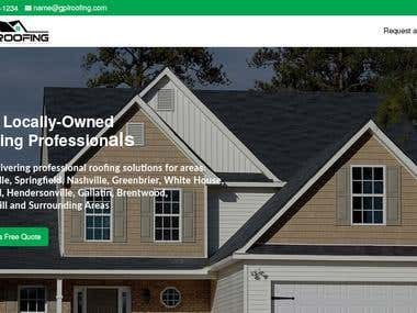 Website Design for roofing