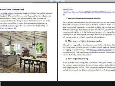 Home improvement articles