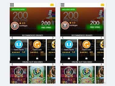 casino game app (IONIC)