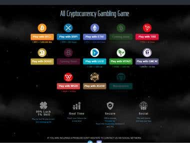 Multi Cryptocurrency gambling game website