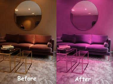 Before After of Room
