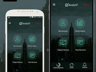 AndyW Ltd Mobile Application