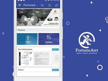 FortuneArrt Ecommerce Mobile Application Development