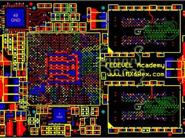 Multi-Layer digital circuit PCB layout.