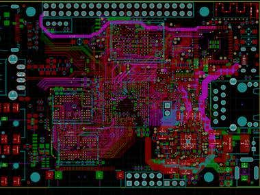 High speed multi-layer PCB layout.