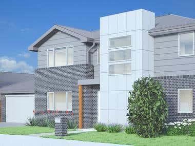Australia 3 houses - Exterior renderings