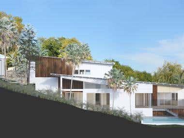 Australia house - EXTERIOR renderings