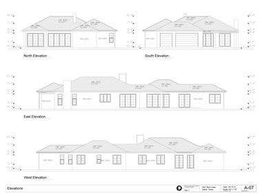 US - Architectural drawings set- HOUSE design