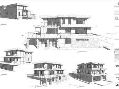 CANADA - Construction drawings set - HOUSE design