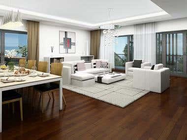 House + Apartment - INTERIOR renderings