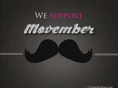 Movember event on social medias