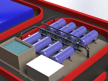 Design of Sea Water Reverse Osmosis desalination station.