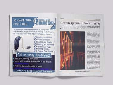 Newspaper Advertisement design
