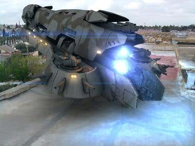 3D Realistic Rendering of Spaceship