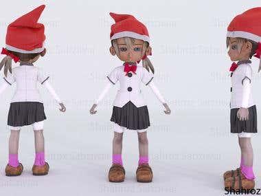 3D Elfe Girl